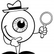 Outlined Detective Eyeball — Stock Photo