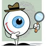 Постер, плакат: Detective Eyeball Holding A Magnify