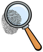 Magnifying Glass With Fingerprint — Stock Photo