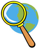 Earth Under Magnifying Glass — Stock Photo