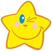 Happy Little Star Winking — Stock Photo