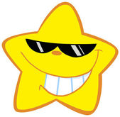 Happy Little Star With Sunglasses — Stock Photo