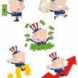 Uncle Sam Cartoon Collection — Stock Photo #9423645