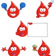 Blood Drops Characters - Stock Photo