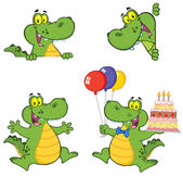 Crocodile Cartoon Characters — Stock Photo