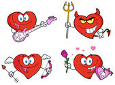 Heart Cartoon Style — Stock Photo