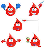Blood Drops Characters — Stock Photo