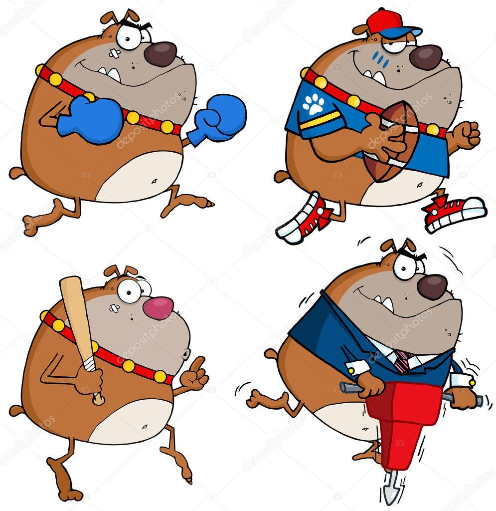 Personaggi dei cartoni animati di bulldog foto stock - Immagini dei cartoni animati vegetariani ...