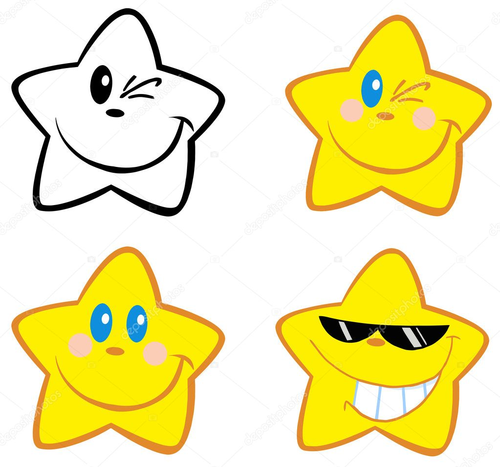 Happy Little Stars.Collection  Foto Stock #9423704