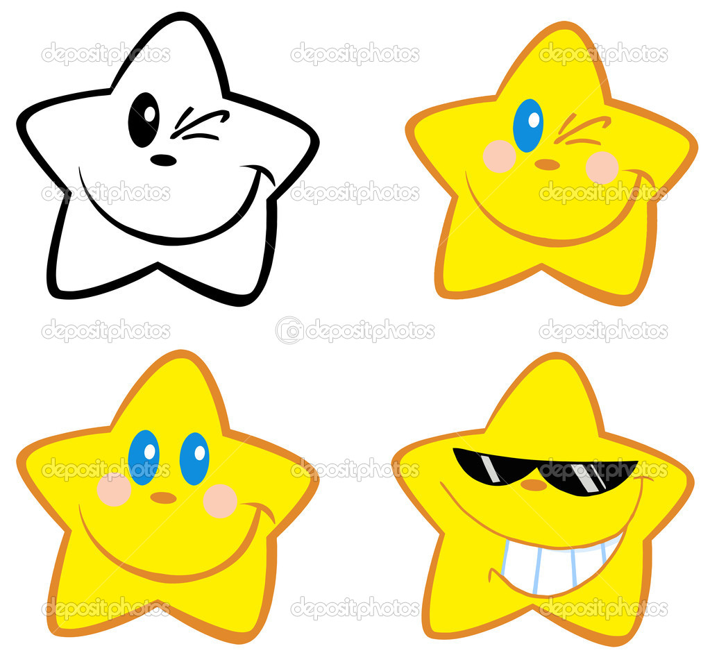 Happy Little Stars.Collection  Stockfoto #9423704