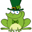 Happy Leprechaun Frog — Stock Photo