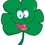 Happy Green Clover Cartoon — Stock Photo #9462202