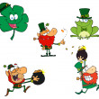 Leprechaun Characters. Collection — Stock Photo