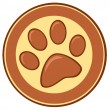 Brown Paw Print Banner — Stock Photo