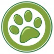Green Paw Print — Stock Photo