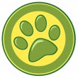 Stock Photo: Paw Print Banner
