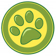 Paw Print Banner — Stock Photo