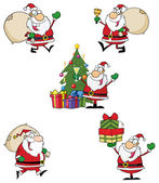 Santa Claus Style Characters — Stock Photo