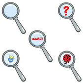 Magnifying Glass.Collection — Stock Photo