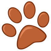 Brown Paw Print — Stock Photo