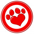 Love Paw Print Banner — Stock Photo