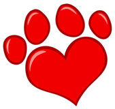 Love Paw Print — Stock Photo