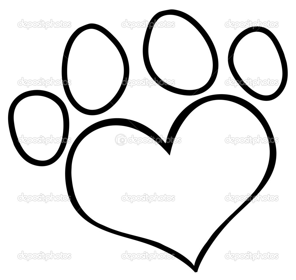 dog paw coloring page - free coloring pages of puppy paw prints