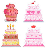 Different Cakes. Collection — Stock Photo