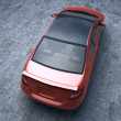 Red car C class top view — Stock Photo
