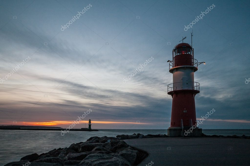 The mole in Warnemuende (Germany). — Stock Photo #9924248