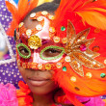 Beauty behind the carnival mask — Foto de Stock