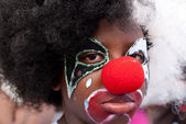 Youn Male Carnival Reveler — Stock Photo