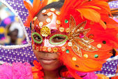 Beauty behind the carnival mask — Stock Photo