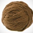 Ball of brown yarn - Stockfoto