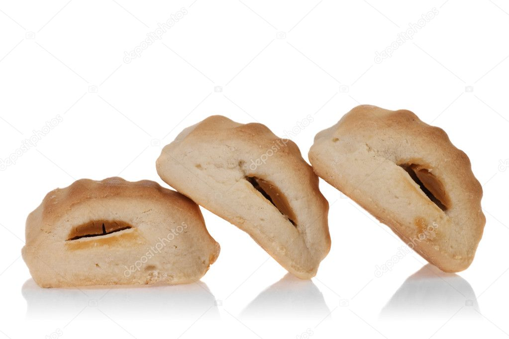 Three cookies composition. isolated on white background — Stock Photo #10411987