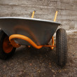 Orange farmer's two wheelbarrow — Foto Stock