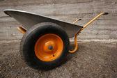 Impresive farmer's two wheelbarrow — Stock Photo