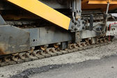 Aspahlt paving machine's track — Stockfoto