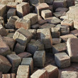 Stock Photo: Thrown beige pavement blocks