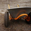 Orange farmer's two wheelbarrow — Stock Photo
