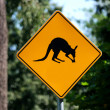 Lookout for kangaroos - sign — Stock Photo