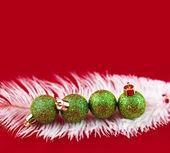 зеленые шарики — Стоковое фото