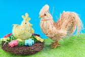 Gallo y gallina — Foto de Stock