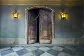 Puerta de madera. — Foto de Stock