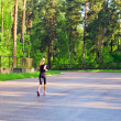 Morning jog in wood. — Stock Photo #10707753