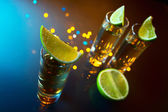 Tequila and lime. — Stock Photo