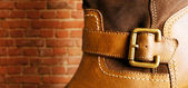 Leather boot. — Stock Photo