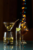 Alcoholic drinks. — Stock Photo