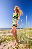 Girl on a beach. — Stock Photo