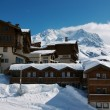 View on Val Thorens - Stock Photo